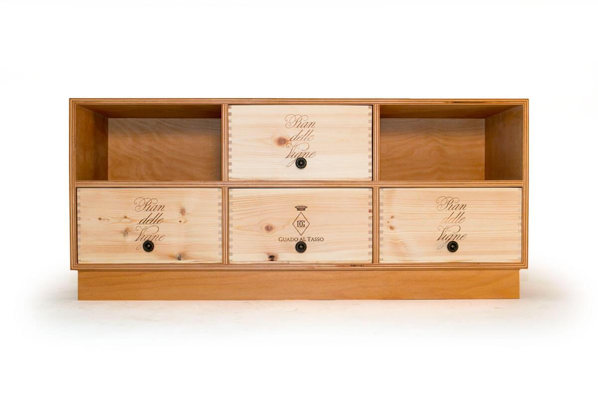 weinkisten sideboard tv ge lt nummer 5 manufaktur social. Black Bedroom Furniture Sets. Home Design Ideas